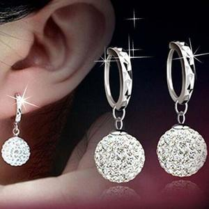 Fashion New Women Crystal Gold Silver Rhinestone Sterling Elegant Jewelry Hoop Earrings Piercing Plated Clip Nose Zircon Ear Ring Cuff Stud Hoop Earring(Multicolor)