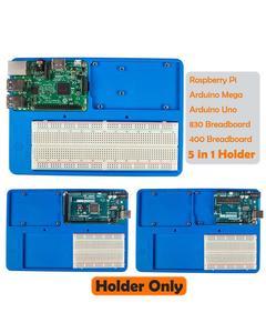 Sunfounder Rab 5 In 1 Breadboard Holder Base Plate Circuit Board Screws For Uno R3 Mega 2560 Raspberry Pi 3 Model B