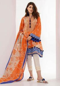 Khaadi Un-Stitched Embroidered Lawn Replica Dress for Women