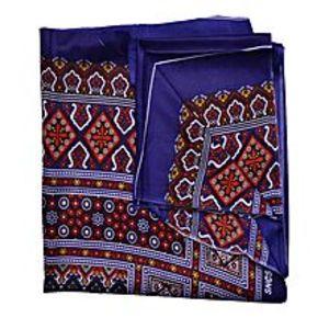 SmartUBlue & Maroon Silk Shawl For Women