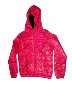 Stylish Pink Printed Zipper Hoodie Jacket for Girl