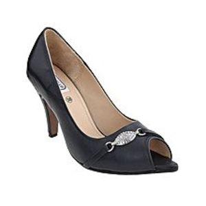Castillo Alla ModaBlack Leather Coat Shoe for Women - CO1