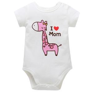 Perfect Meet cute warm Newborn BabyBoys GirlsGiraffe Cartoon Letter Print Rompers Jumpsuit Clothes