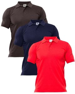 AR Center Pack of 3 - Multicolor Cotton Polo Shirts for Men - ARA-3Polo-BlNR