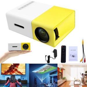 YG-300 1080P Home Theater Cinema USB HDMI AV SD Mini Portable HD LED Projector (N)