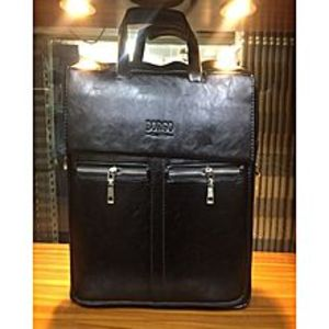VICTORY Victory PU Leather Bag For 15.6 Inches Black Model No 9899-1