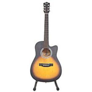 "Slash39"" Matte Finish Acoustic Guitar with Free Guitar Bag - Sun Burst"
