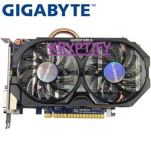 NVDIA GIGABYTE Video GRAPHICS Card Original GTX 750 Ti 2GB 128Bit GDDR5 Graphics Cards for nVIDIA Geforce GTX 750Ti Hdmi Dvi FOR PUBG , FORTNITE , DOTA ETC GAMING