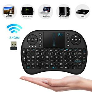 Wireless Keyboard QWERTY Keyboard Combo Touchpad Mouse DPI Adjustable Functions Russian Keyboard Version For Android TV Black