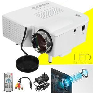 HD 1080P Mini Portable Home Cinema Theater Projector White EU Plus