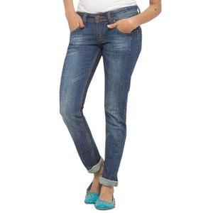 Ladies Denim Blue Faded Jeans