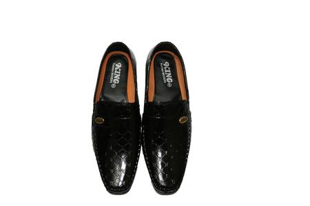 silk patent moccasion - Shoes for Men