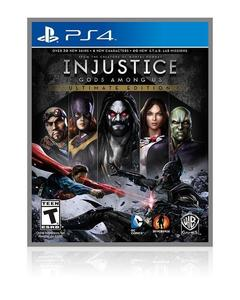 PLAYSTATION 4 DVD INJUSTICE GOD AMOUNG US PS4 GAME