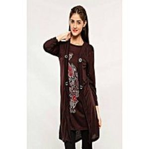 AH Collection Pakistan Brown Twill Shirt For Women