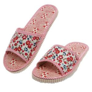 Amamia Women's Men's Summer Floral Home Indoor Slipper Open Toe Flat Heel Slippers