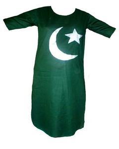 Green flag Kurta for women in lawn