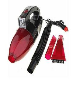 Fast Delivered Shop Portable Car Vacuum Cleaner with Torch - Red