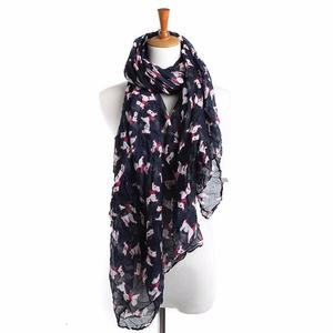 BlingBlingStar Women Ladies Puppy Print Long Scarf Warm Wrap Shawl