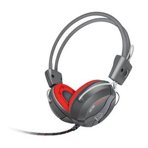 Mn-669 Fragrant Music Note Wired Headphones With Mic - Grey & Red