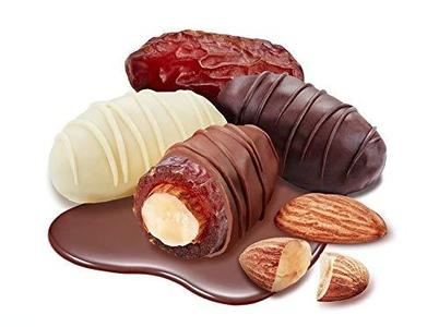 1 KG Chocodate - Dates with dark chocolate with almonds, New and Improved quality