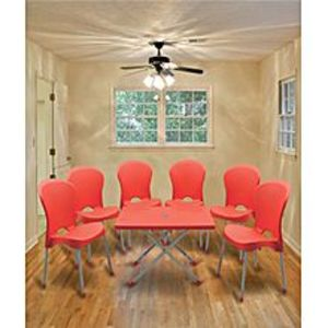 BossPack of 6 - Red Plastic Res Relaxo Chairs