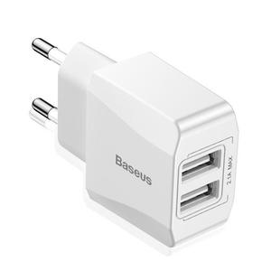 Mini Universal Dual Travel USB Charger For iPhone X Samsung 8 7 EU Plug Adapter