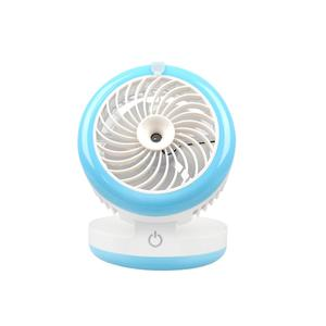 Mini Portable Spray Mist Fan Foldable Desktop Humidifier USB Charging with 2000mAh Power Bank Portable Water Spray Fan, Blue
