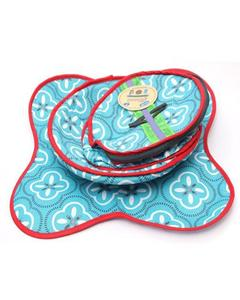 Pack Of 3 Printed Cotton Roti Basket With Cloth & Zip Roti Baskit