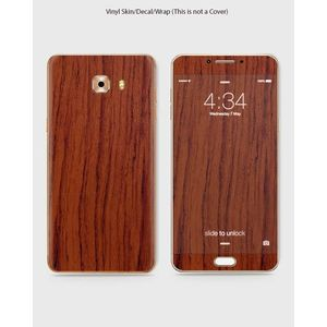 Samsung C5 Pro Phone Skin Front Back And Sides Accassia Wood- 1Wall203