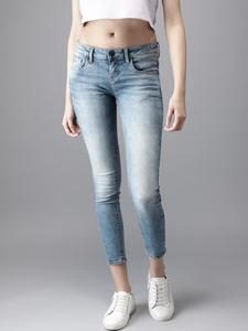 SLIM FIT CLEAN LOOK JEANS -Shaded Blue