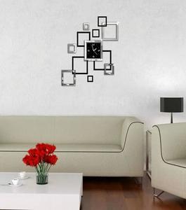 wall clock acrylic square art