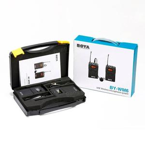 BOYA by-WM6 Microphone UHF Wireless Lavalier Microphone System On-Camera Video Recording Microphone for Canon Nikon Sony Camera etc