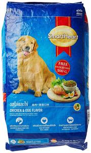Smart Heart Adult Dog Food Dry Chicken and Egg, 10 kg