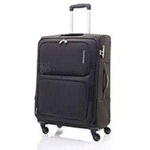 KamiliantToro - 80cm Spinner - 4 Wheels Soft Trolley Suitcase - Black