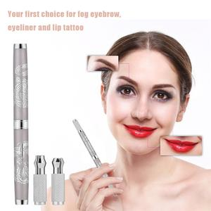 Dual-end Manual Fog Eyebrow Tattoo Liner Pen Microblading Permanent Makeup Tool