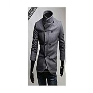 Time collectionCharcoal Grey Winter Warm Coat For Men