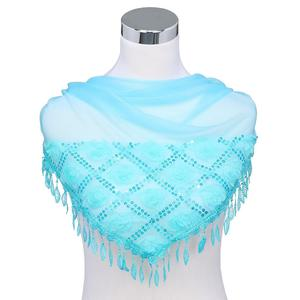 Women's Flowers Beautiful Fringed Embroidered Scarf Thin Section Scarf Shawl
