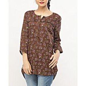 DenizenCotton Placket Blouse Golden Brown X - Woven Shirts