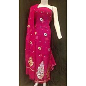 Banaras FashionShirt Dupatta Khadi SP for Women for Women - Shock-Pink