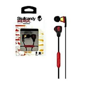 SkullcandyOriginal Skullcandy Merge HD stereo Headphones/ Earphones/ Handsfree with travel case - Black & Red