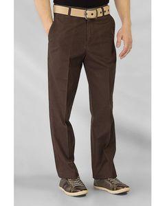 Fashion Café Dark Brown Cotton Twill Wrinkle Free Chinos