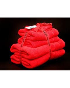 Alkaram Towel 6 - Piece Towel Set Red