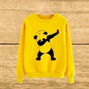 Yellow Dab Panda Print Sweat SHirt For Her