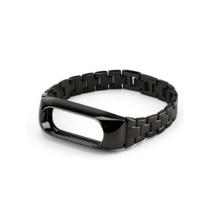Strap For Xiaomi Mi Band 2 Stainless Steel - Black