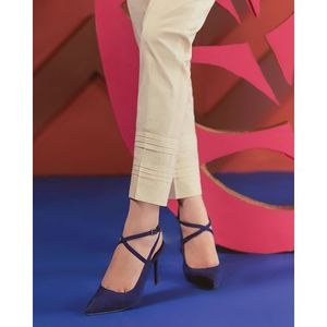 O-White-Cambric Unstitched Trouser - Uslt18-07