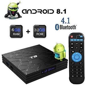 T9 TV BOX  Android 9.1 4GB RAM 32GB ROM  Quad Core smart box supports 2.4Ghz WIFI USB 3.0 -RK3328