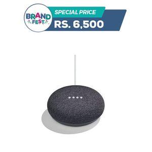 Google Home Mini Portable Smart Speaker - Charcol Black