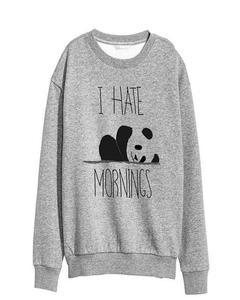 Grey Cotton & Polyester Sweatshirt for Women