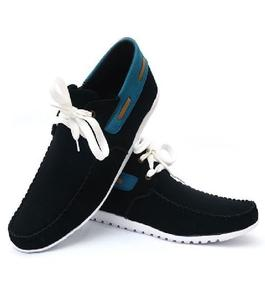 Black Stylish Ankle Shoes For Men