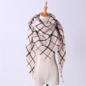 MissFortune Women Shawl Cashmere Autumn Plaid Lattice Wool Scarves Scarf